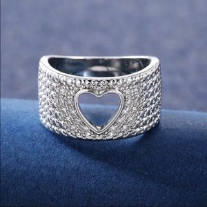 Heart 925Silver Ring White Sapphire Sterlingsilver
